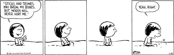 """2. When Calvin called Susie a """"booger-brain"""" and made her cry."""